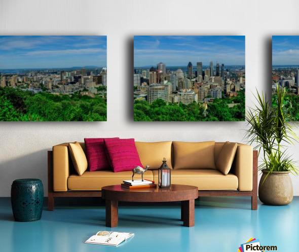montreal panorama Split Canvas print