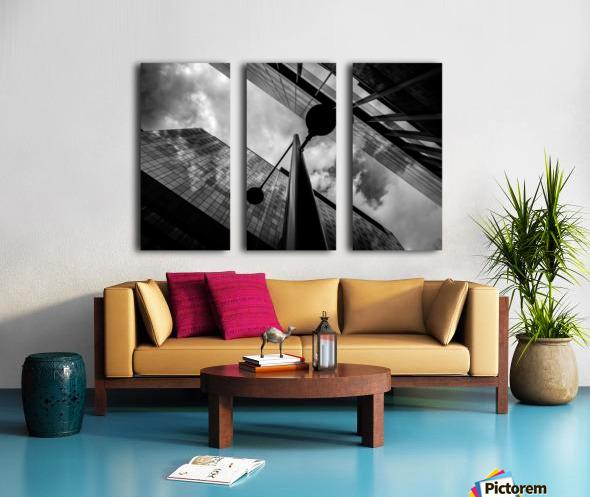 W&B Split Canvas print