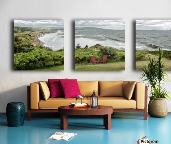 Chilling at Cap Lemoine Split Canvas print