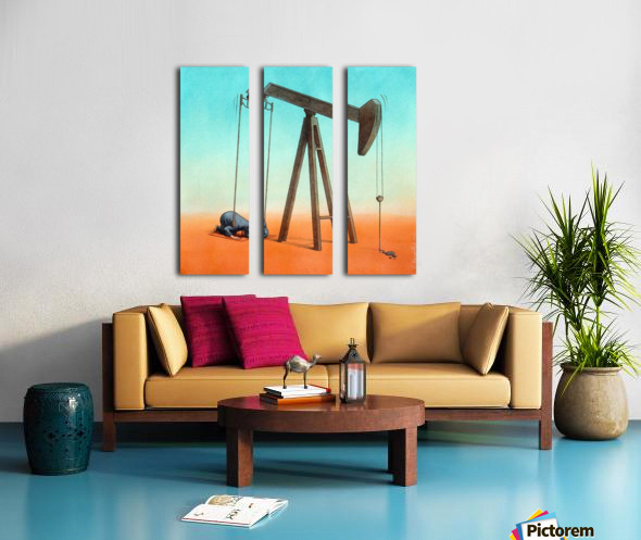 ISIS Split Canvas print