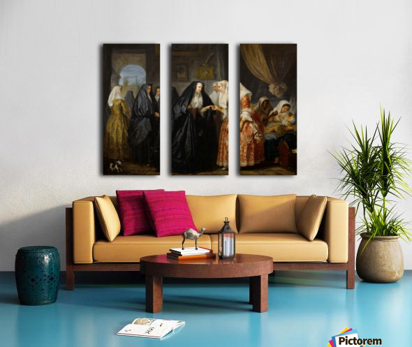 Maltese ladies paying a visit Split Canvas print