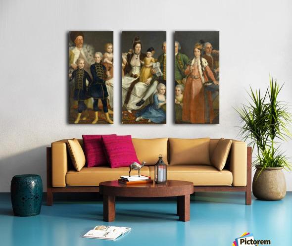 David George van Lennep and Family Split Canvas print