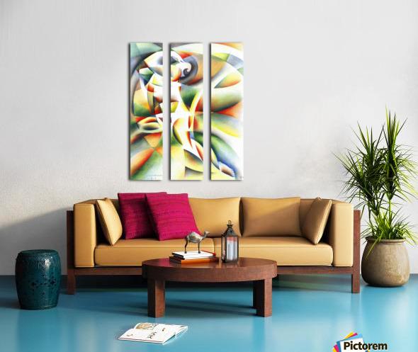 Roundism - 12-10-16 Split Canvas print