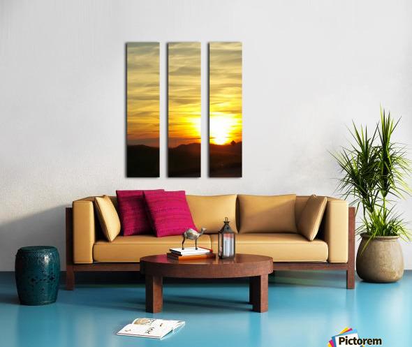 Vanishing Sun Split Canvas print