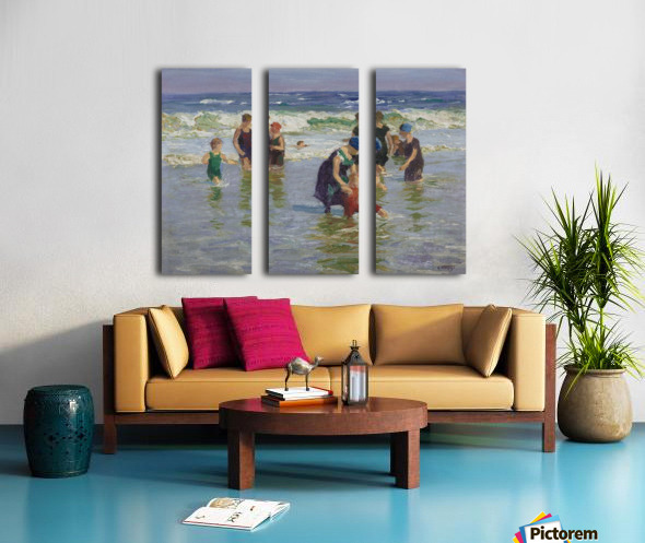 People enjoying the sea Split Canvas print