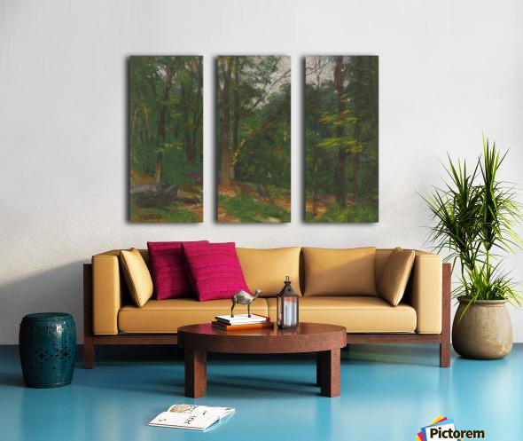 Forest in the spring Split Canvas print