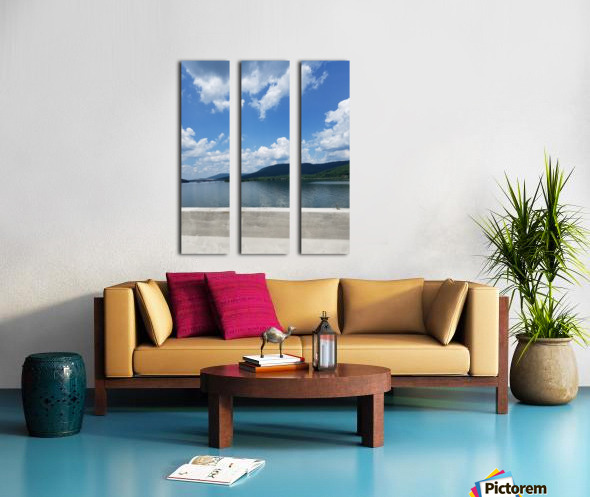 Looking Out Over Water Split Canvas print