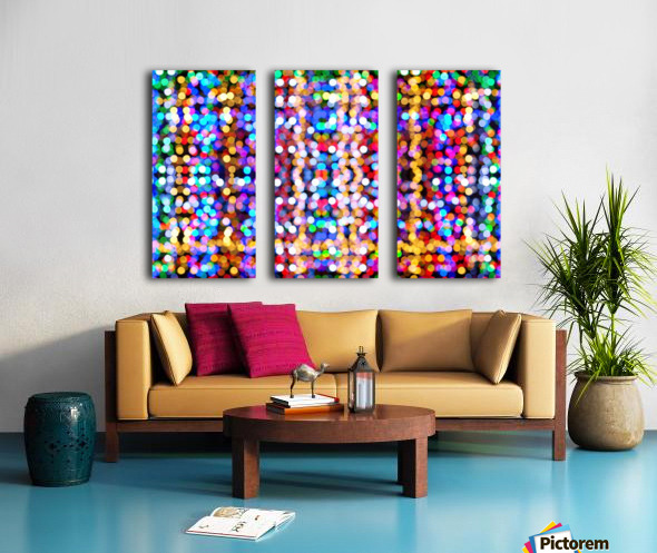 bokeh multicolor Split Canvas print
