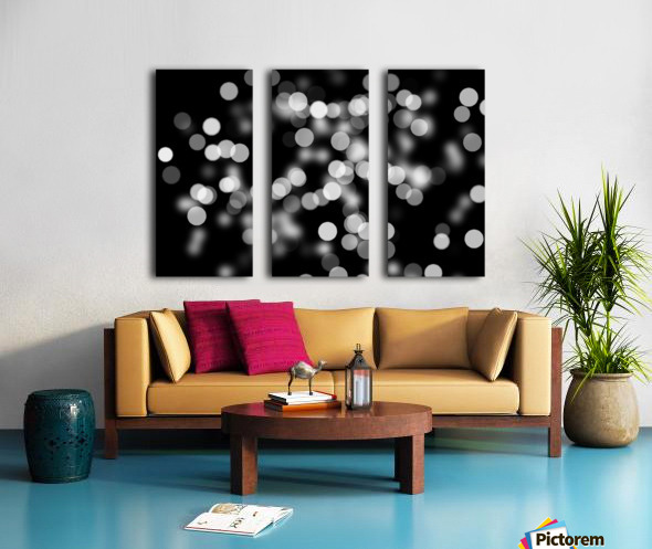 Bokeh Out Of Focus Black White Background Light Split Canvas print