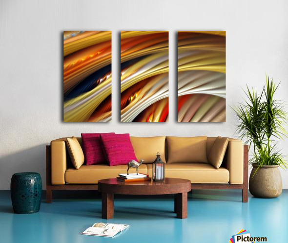 Colors Stripes Abstract Background Strings Split Canvas print