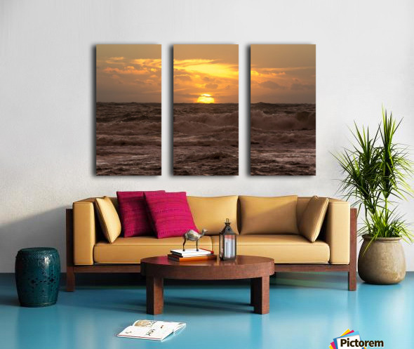 Fire & Water Split Canvas print