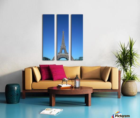 Eiffel tower Paris black and white with color Split Canvas print