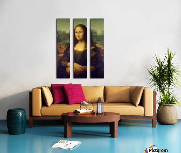 Mona Lisa Leonardo Da Vinci La Gioconda Oil Painting Split Canvas print
