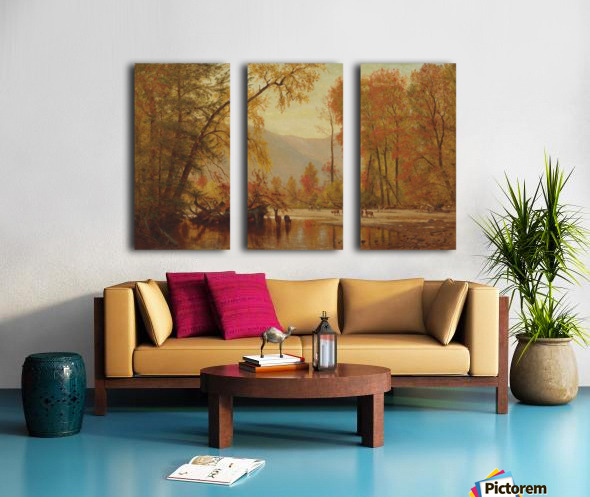 Autumn on the Delaware Split Canvas print