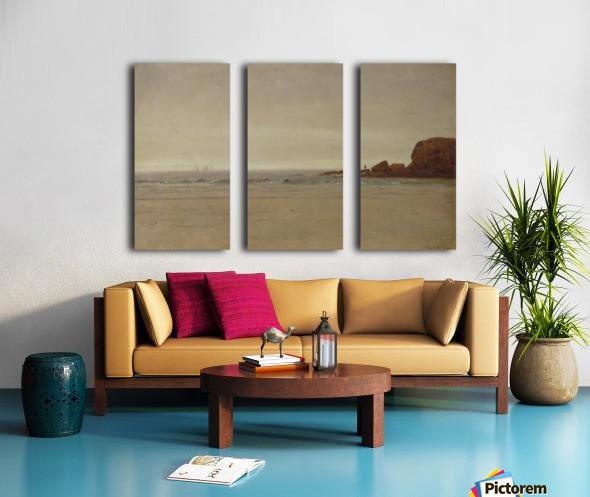 Beach and Rocks Split Canvas print