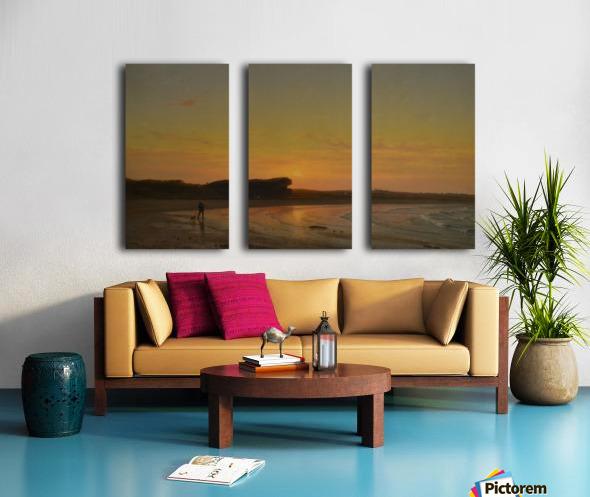 Second Beach Newport Split Canvas print