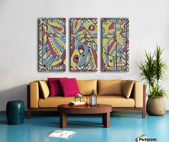 Multicolor Abstract Split Canvas print