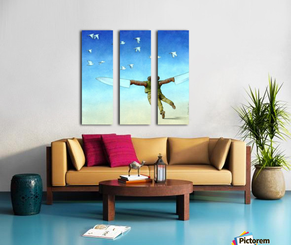 Flight Split Canvas print