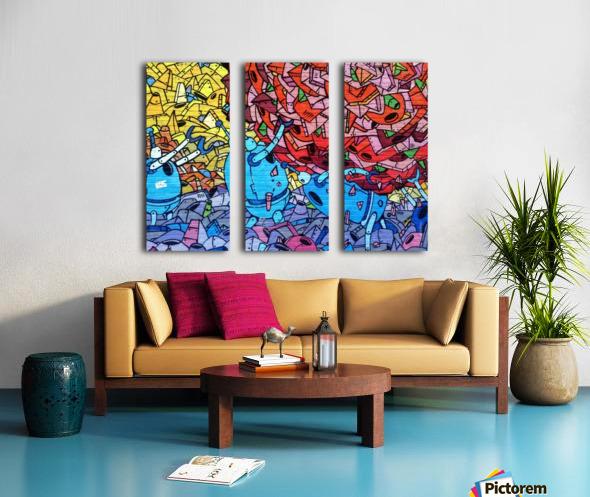 graffiti 569265 Split Canvas print