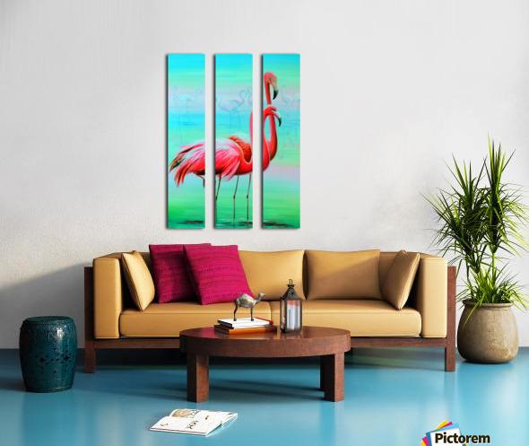 Фламинго на рассвете  Split Canvas print