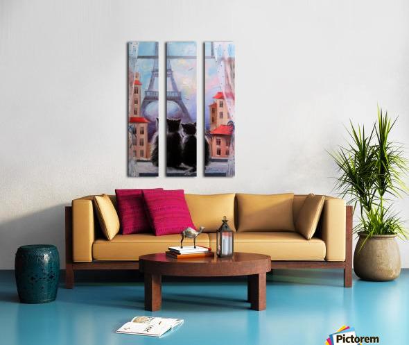 Друзя в Париже Split Canvas print