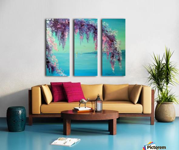 Глициния у моря Split Canvas print
