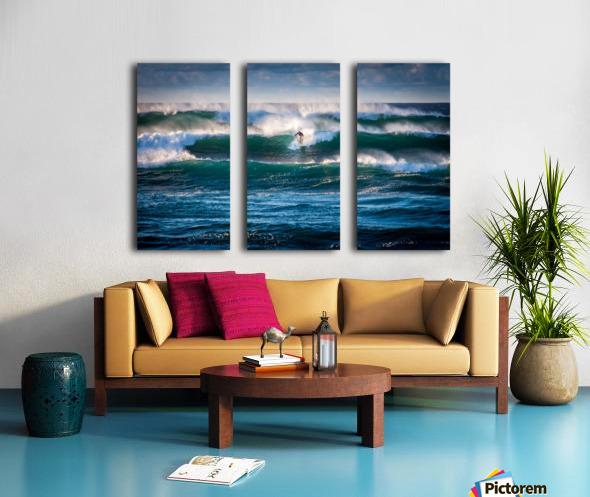 Surfing Split Canvas print