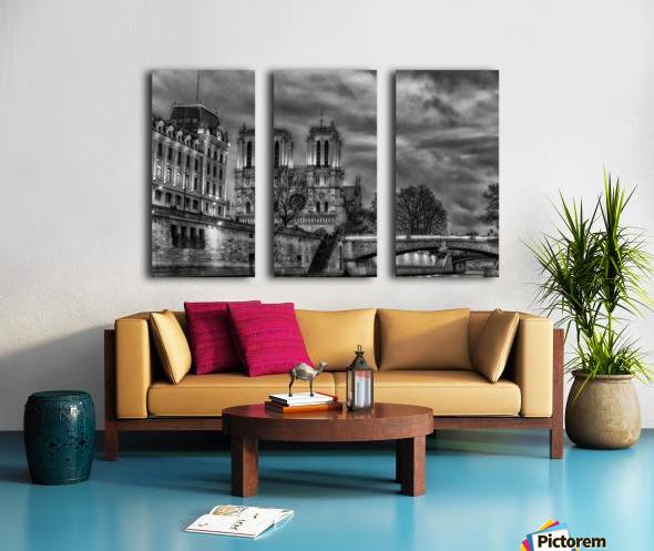 Notre Dame Split Canvas print