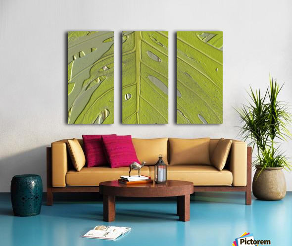 Leaf Texture Background Split Canvas print