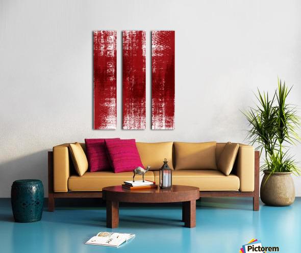Red Texture Split Canvas print