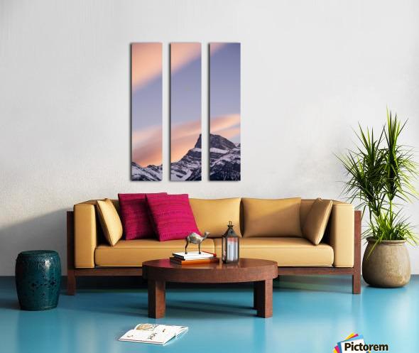 Clouds At Sunset Above Mountain Peaks, Kootenay Plains, Alberta, Canada Split Canvas print