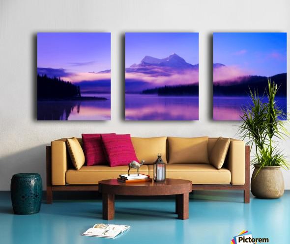 Beautiful Mountain Scenery Split Canvas print