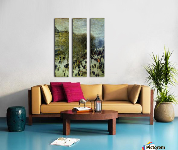 Boulevard of Capucines by Monet Split Canvas print
