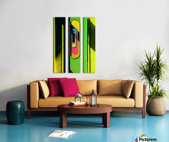 Looking Through Colorful Ovals Split Canvas print