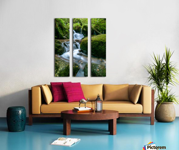 Small Waterfall in the German Black Forest Split Canvas print