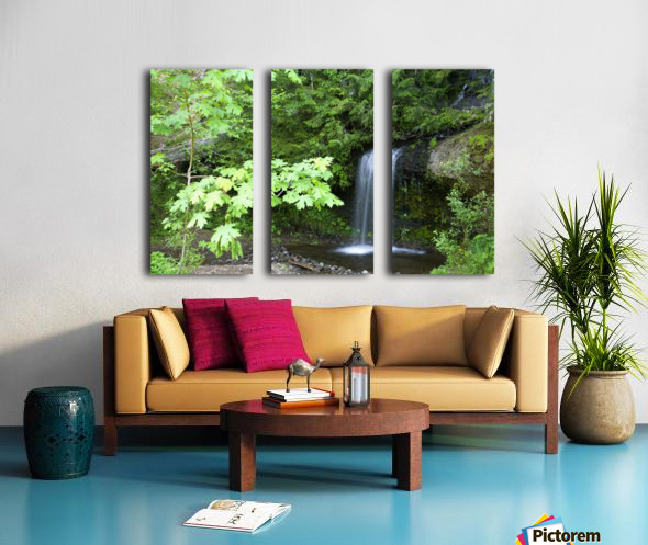 Waterfall In The Forest Split Canvas print