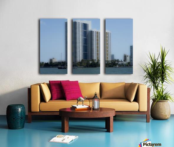 Miami Beach Buildings Split Canvas print
