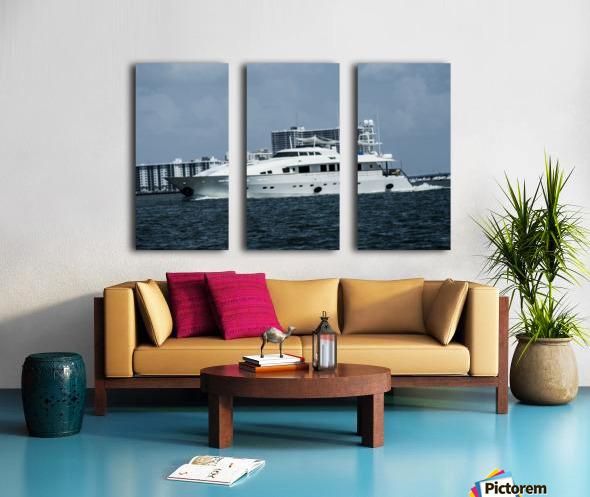 Yacht Split Canvas print