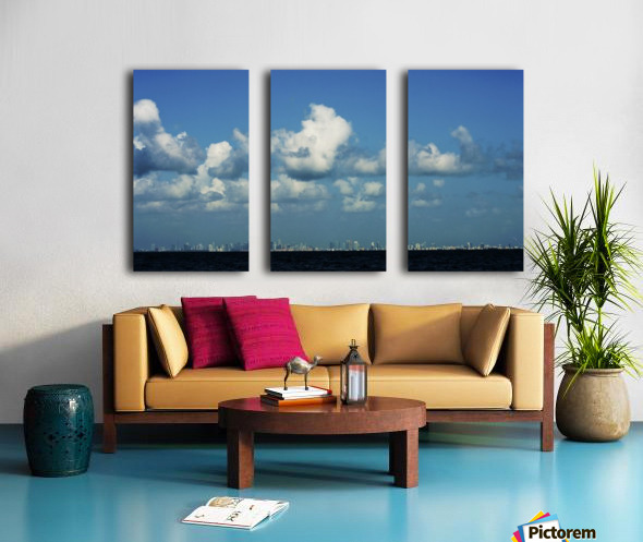 Miami Skyline Split Canvas print