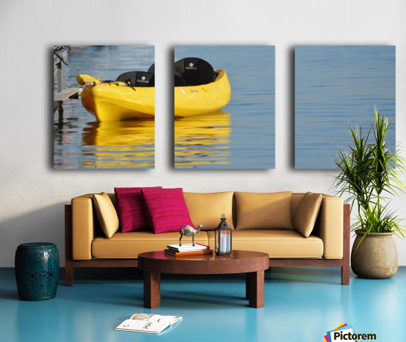 Yellow Kayak Split Canvas print