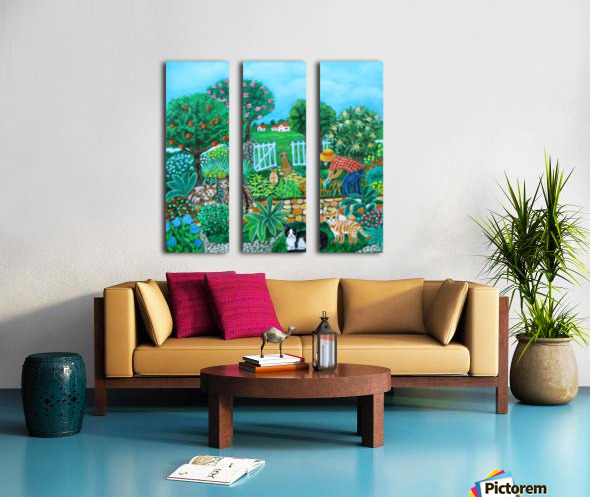 gardening Split Canvas print