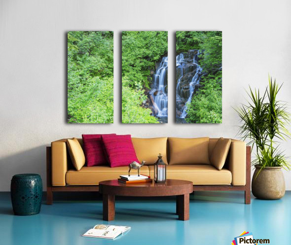 Stevens creek waterfall mount rainer national park near seattle;Washington united states of america Split Canvas print