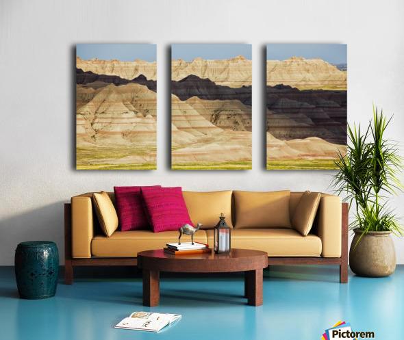 Light and shadows paint the landscape of badlands national park; south dakota united states of america Split Canvas print