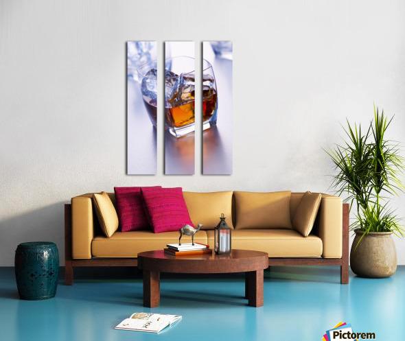 Glass of whiskey Split Canvas print