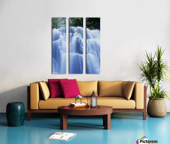 Sweet Creek waterfalls along the hiking trail; Mapleton, Oregon, United States of America Split Canvas print