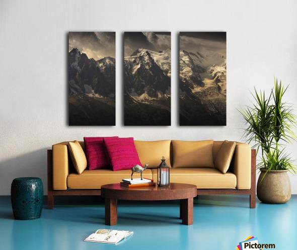 Aiguille du Midi and Mont Blanc, French Alps Split Canvas print
