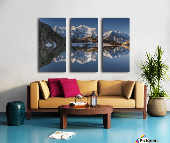White in Black (Mont Blanc in Lac Noir), French Alps Split Canvas print