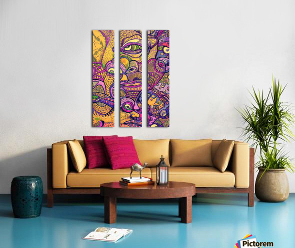 Loba Split Canvas print