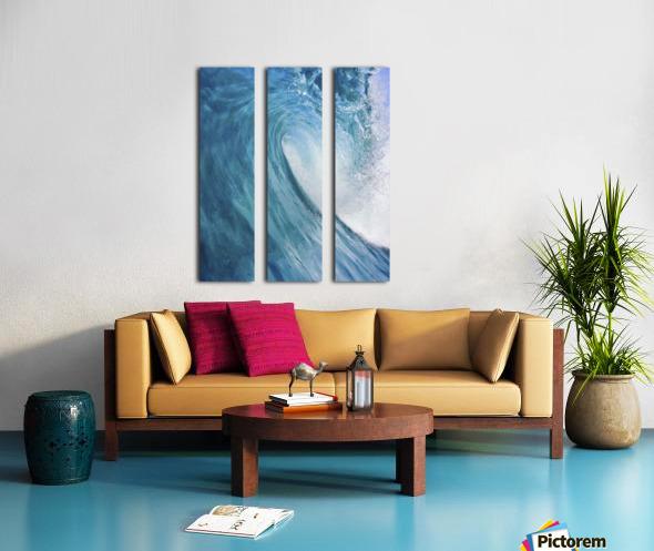 Blue Ocean Wave Split Canvas print