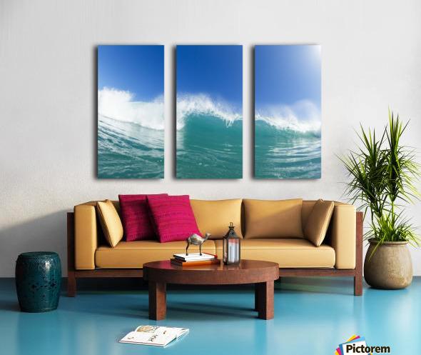 Blue Ocean Wave and Sunny Blue Sky Split Canvas print
